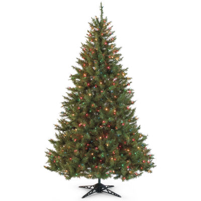 9' Slim Pre-Lit Balsam Fir Christmas Tree