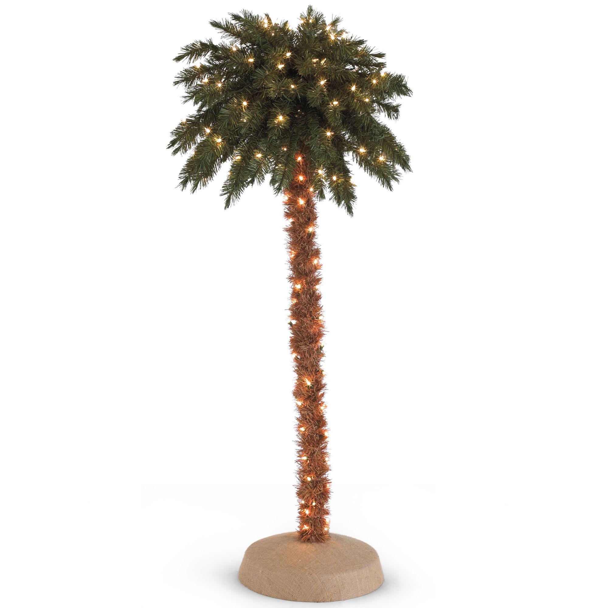 4' Pre-Lit Palm Christmas Tree