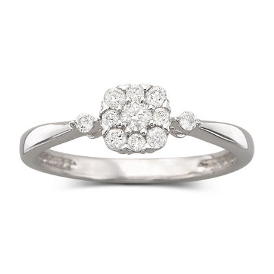 1/4 CT. T.W. Diamond Promise Ring Sterling