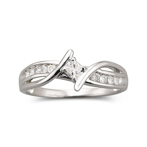 ¼ CT. T.W. Diamond Promise Ring
