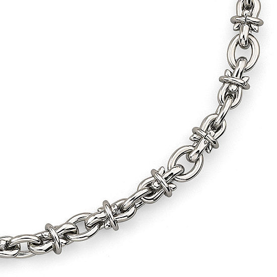 Men's Barbed Wire Necklace Stainless Steel