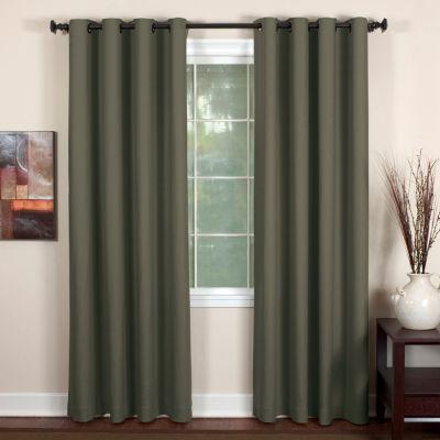 Essex Linen-Blend Grommet-Top Curtain Panel