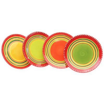 Certified International Hot Tamales Set of 4 Salad Plates