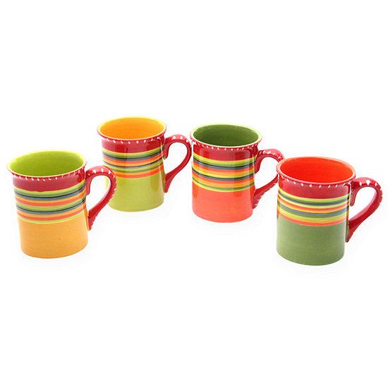 Certified International Hot Tamales Set of 4 Coffee Mugs