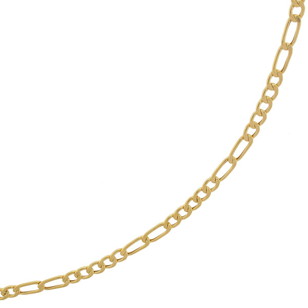 "10K Yellow Gold 2.9mm 18"" Hollow Figaro Chain"