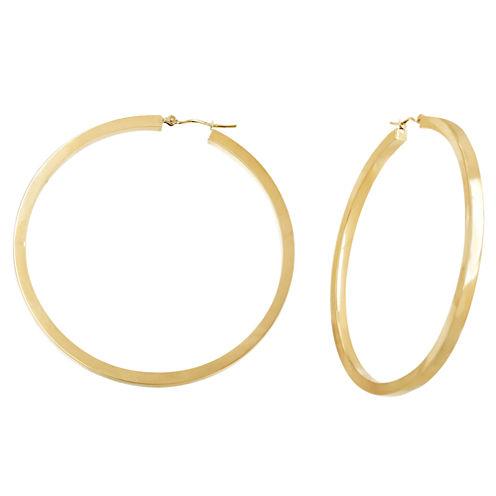 10K Yellow Gold 53mm Hoop Earrings