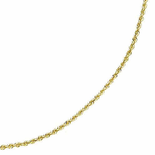 "14K Yellow Gold 16-22"" 1mm Rope Chain"