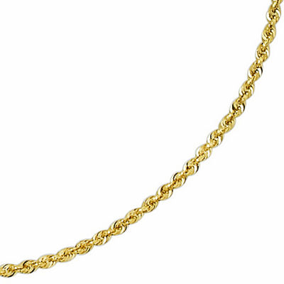 "Solid 14K Gold Glitter Rope 18-30"" 2.5mm Chain"