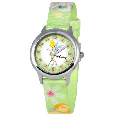 Disney Time Teacher Tinker Bell Kids Green Watch
