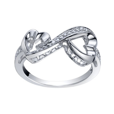 Love Grows™ 1/10 CT. T.W. Double Diamond Heart Ring