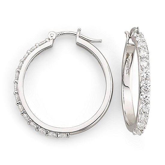 DiamonArt® Cubic Zirconia Hoop Earrings