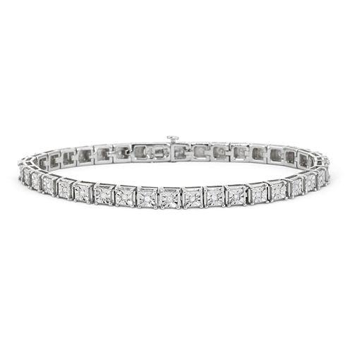 1/2 CT. T.W. Diamond Sterling Silver Tennis Bracelet
