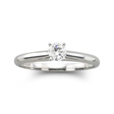 ¼ CT. Round Certified Diamond Solitaire Ring