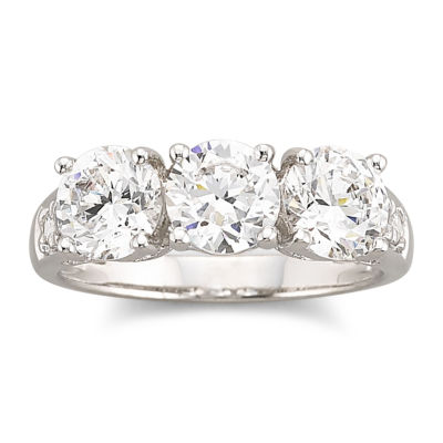 DiamonArt® Cubic Zirconia 3-Stone Ring