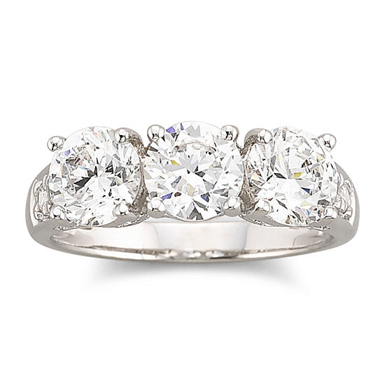 DiamonArt® Cubic Zirconia 3-Stone Ring