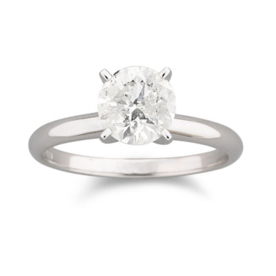 1 CT. Certified Diamond Solitaire 14K White Gold Ring