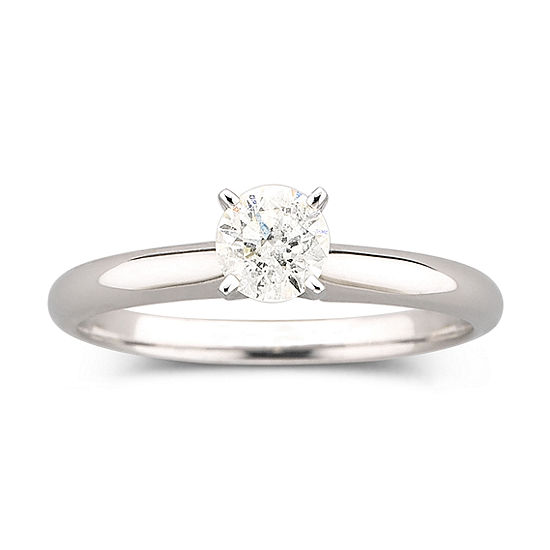 ½ CT. Round Certified Genuine Diamond Solitaire Ring