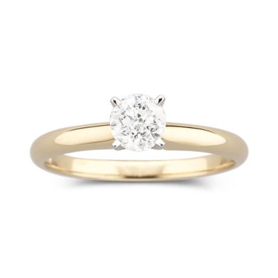 1/2 CT. Certified Diamond Solitaire 14K Yellow Gold Ring