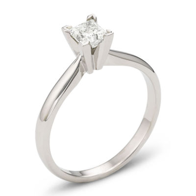 ½ CT. Princess Certified Diamond Solitaire Ring