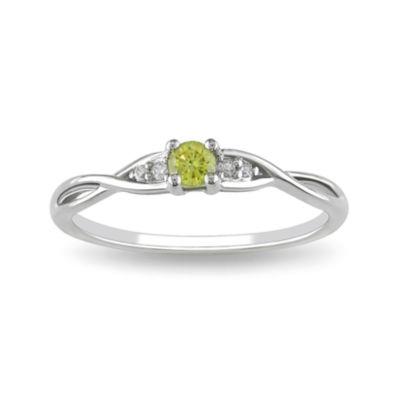 1/7 CT. T.W. Yellow Color-Enhanced Diamond Ring