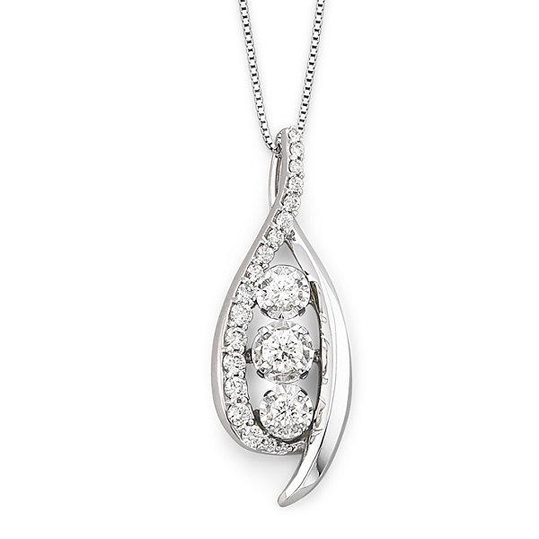 Sirena ct tw diamond 14k white gold pendant necklace jcpenney tw diamond 14k white gold pendant necklace aloadofball Images