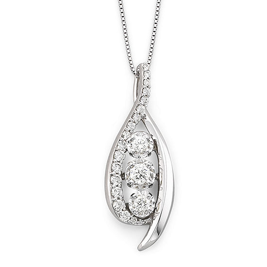 Sirena ct tw diamond 14k white gold pendant necklace jcpenney tw diamond 14k white gold pendant necklace mozeypictures
