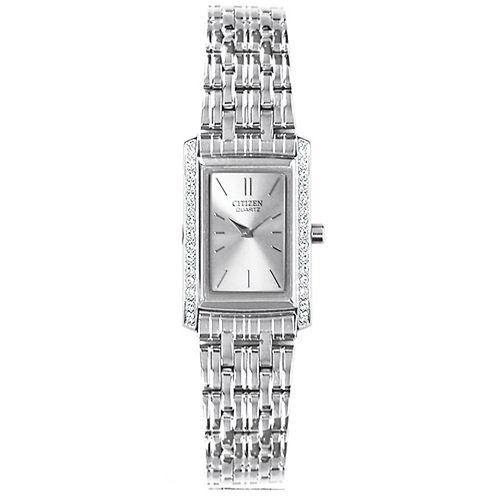 Citizen® Womens Silver-Tone Watch EK1120-55A