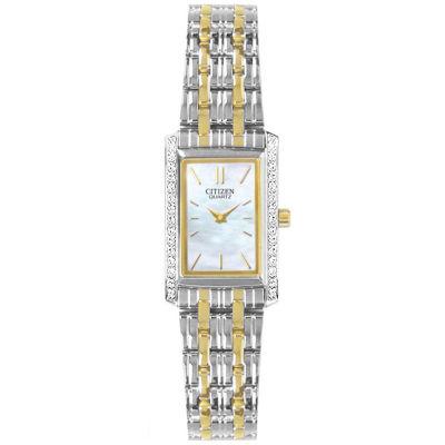 Citizen® Womens Two-Tone Watch EK1124-54D