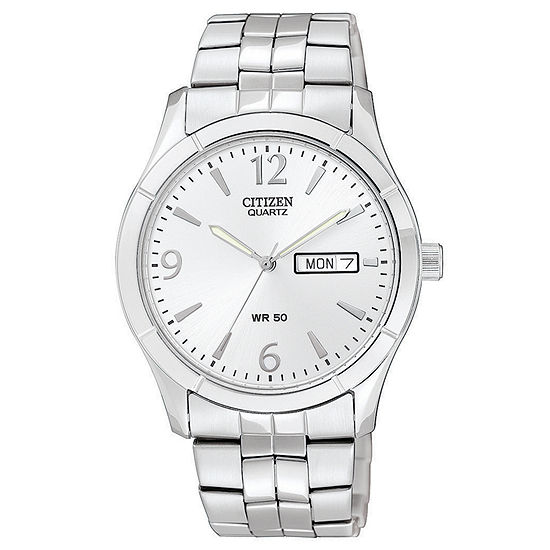 Citizen Mens Silver Tone Watch Bk3830 51a