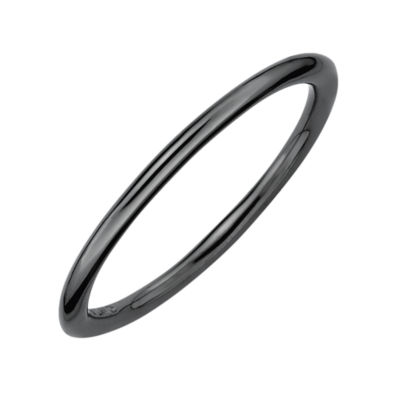 Personally Stackable Black-Plated Sterling Silver Stackable Ring