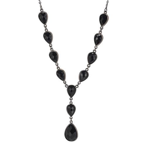 Mixit™ Jet Cabochon Y Chain Necklace