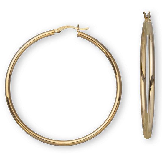 18K Gold over Silver 50mm Hoop Earrings
