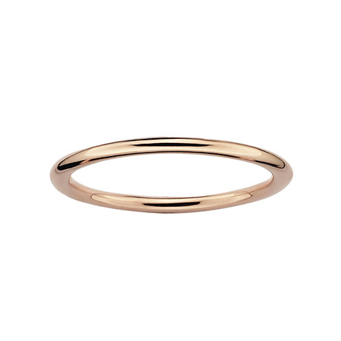 Personally Stackable 18K Rose Gold-Plated Sterling Silver Stackable Ring