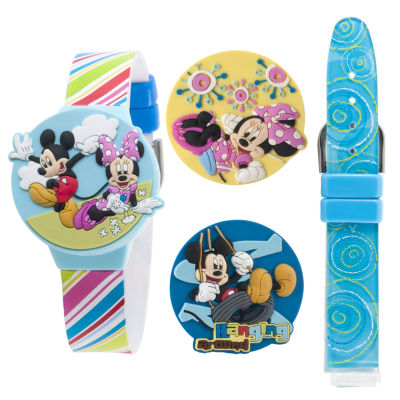 Disney Mickey Mouse Club Tin Watch Set