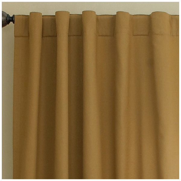 JCPenney Home™ Jenner Cotton Twill Rod-Pocket/Back-Tab Thermal Curtain Panel