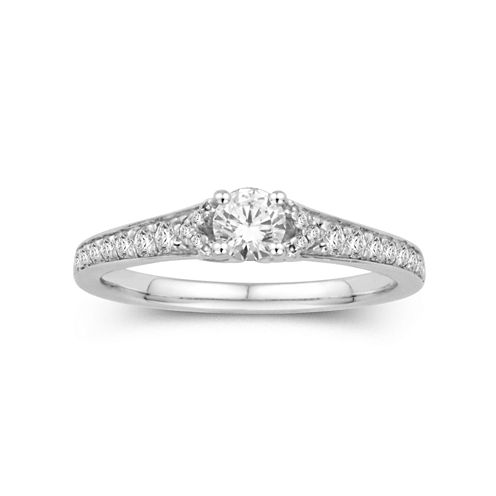 5/8 CT. T.W. 14K White Gold Diamond Ring