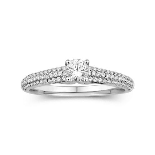 5/8 CT. T.W. 14K White Gold Engagement Ring