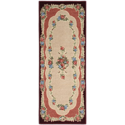 Rosewood Washable Rectangular Runner Rug
