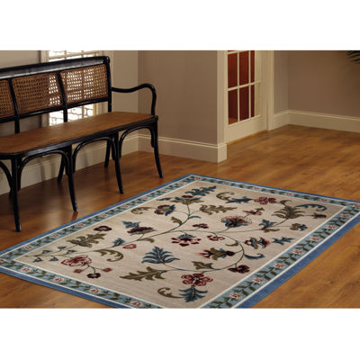 Brumlow Flower Patch Washable Rectangular Rug