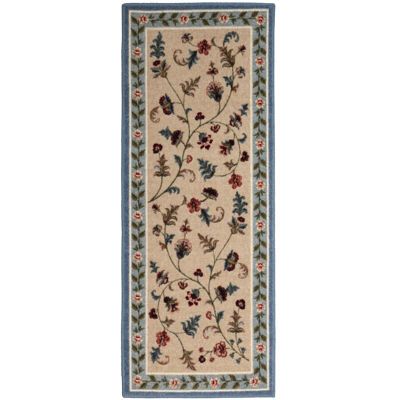 Flower Patch Washable Runner Rug