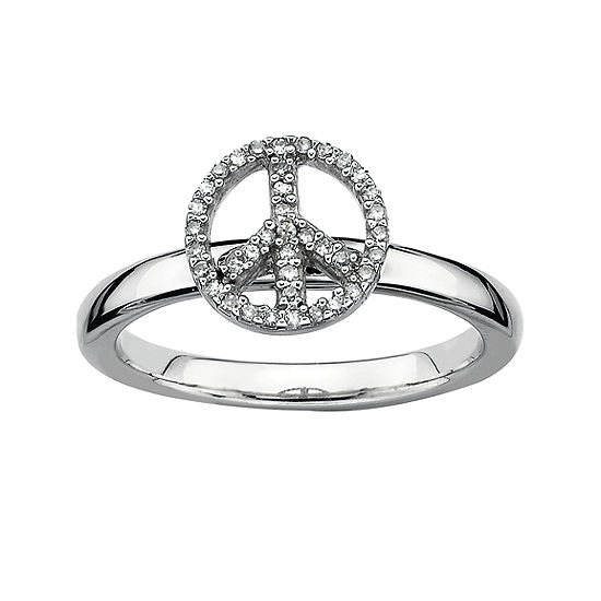 Womens 1 7 Ct Tw Genuine White Diamond Sterling Silver Cocktail Ring