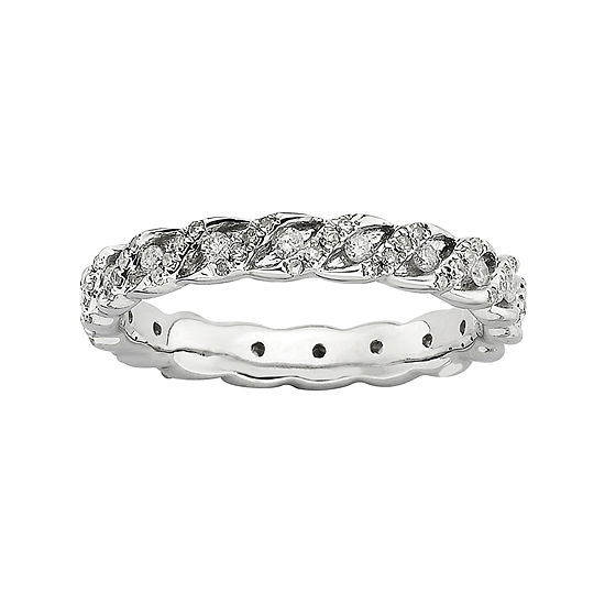 Diamond Stackable Ring 3/4 CT. T.W Silver