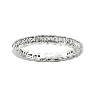 Diamond Stackable Ring 1/3 CT. T.W. Silver