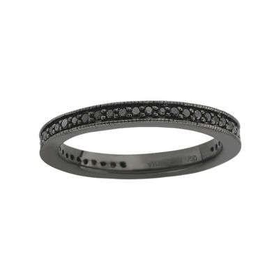 Color-Enhanced Black Diamond Stackable Ring