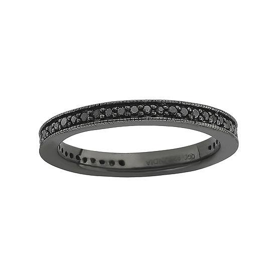 Color-Enhanced Black Diamond Stackable Ring