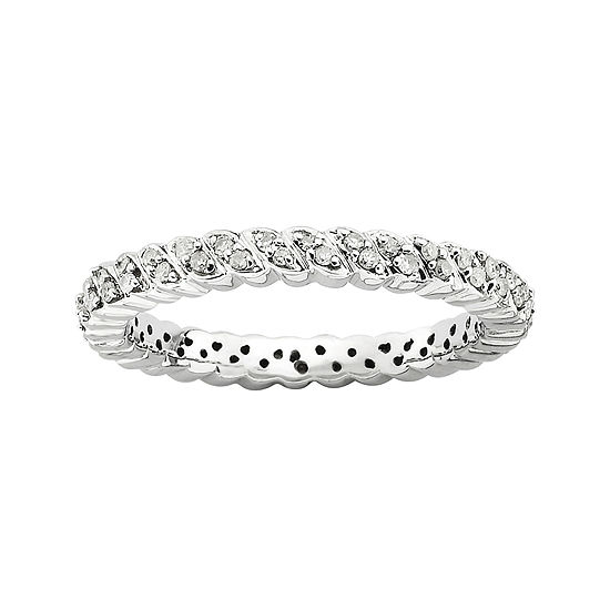 Diamond Stackable Ring 1/5 CT. T.W. Silver