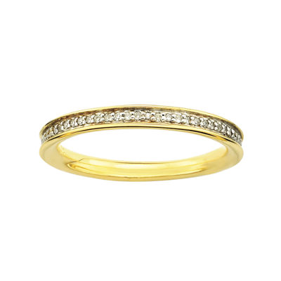 Personally Stackable 1/5 CT. T.W. Diamond 18K/Silver Ring
