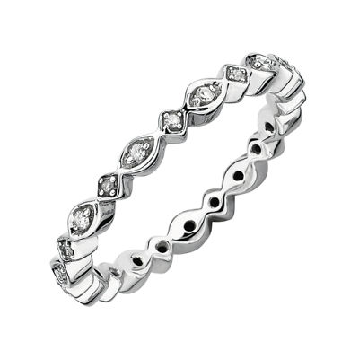 Diamond Stackable Ring 1/10 CT. T.W. Silver