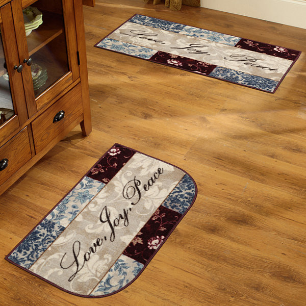 Washable Rugs For Kitchen Area: Sentiments Washable Kitchen Rug