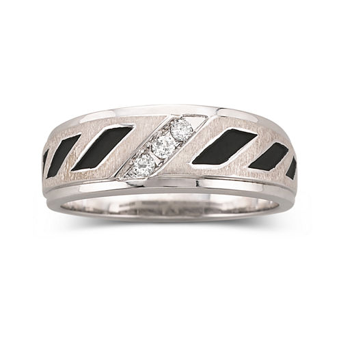 Mens 1/10 CT. T.W. Diamond 2-Tone Sterling Band